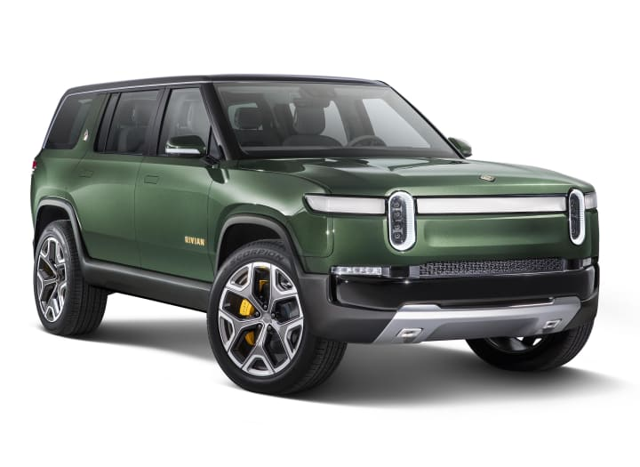 Large green SUV concept electric vehicle